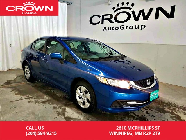 Pre-Owned 2015 Honda Civic Sedan LX/low kms/econ mode assist/ heated seats