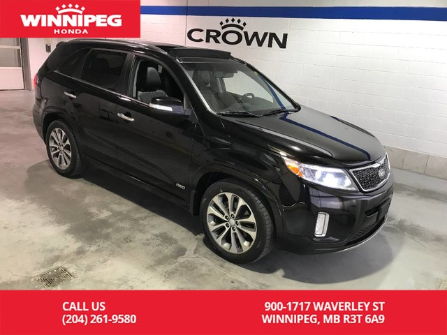 Pre-Owned 2015 Kia Sorento AWD/V6/SX/Heated seats/Panoramic roof/Bluetooth/Leather