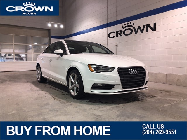 Pre-Owned 2016 Audi A3 Komfort **Quattro AWD** **Leather & Sunroof**