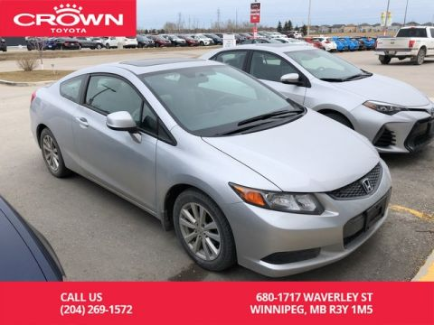 Pre-Owned 2012 Honda Civic Cpe EX 2Dr Coupe / Low Kms / BC Vehicle / Great Value